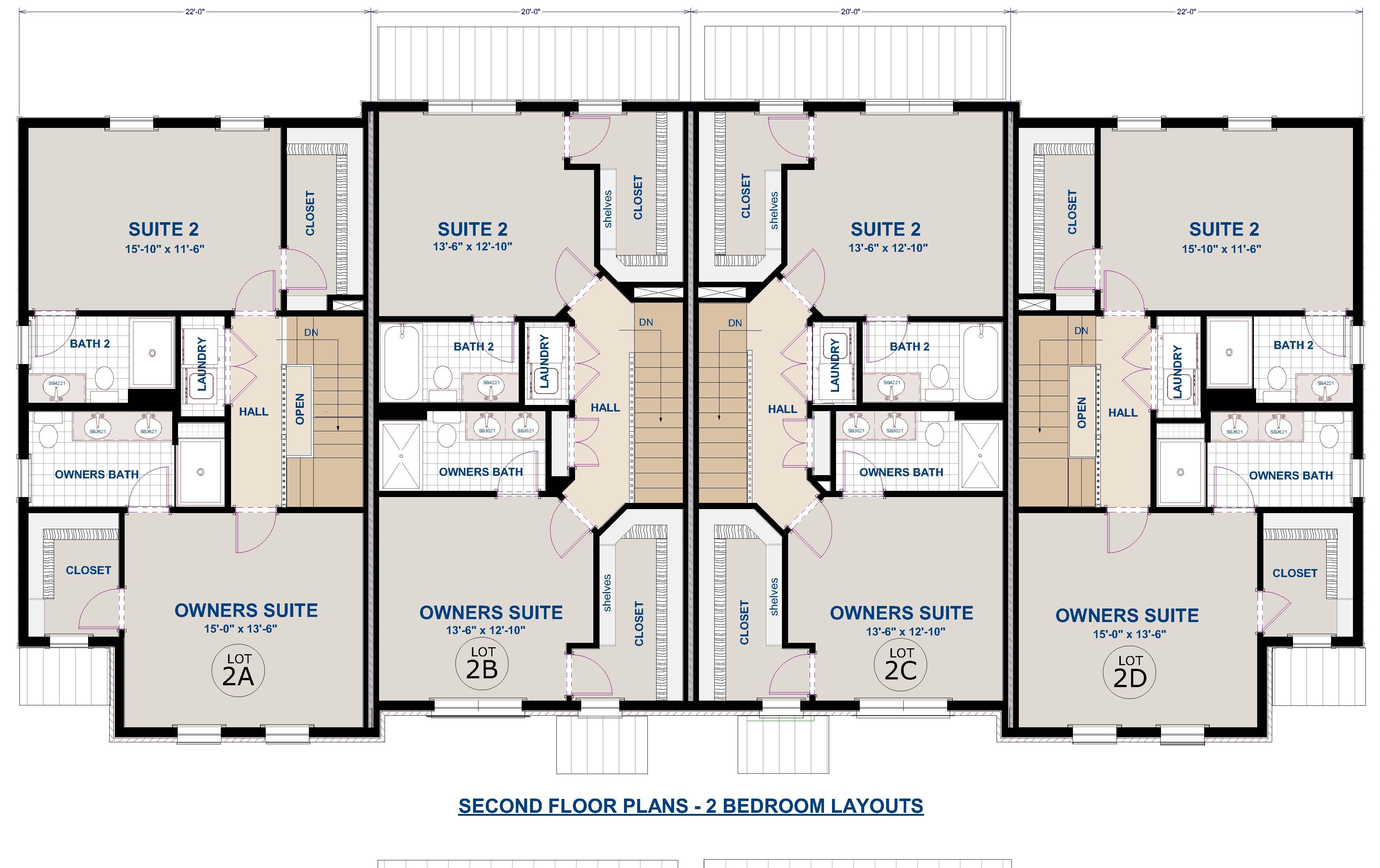 2nd Floor-2 Bedrooms
