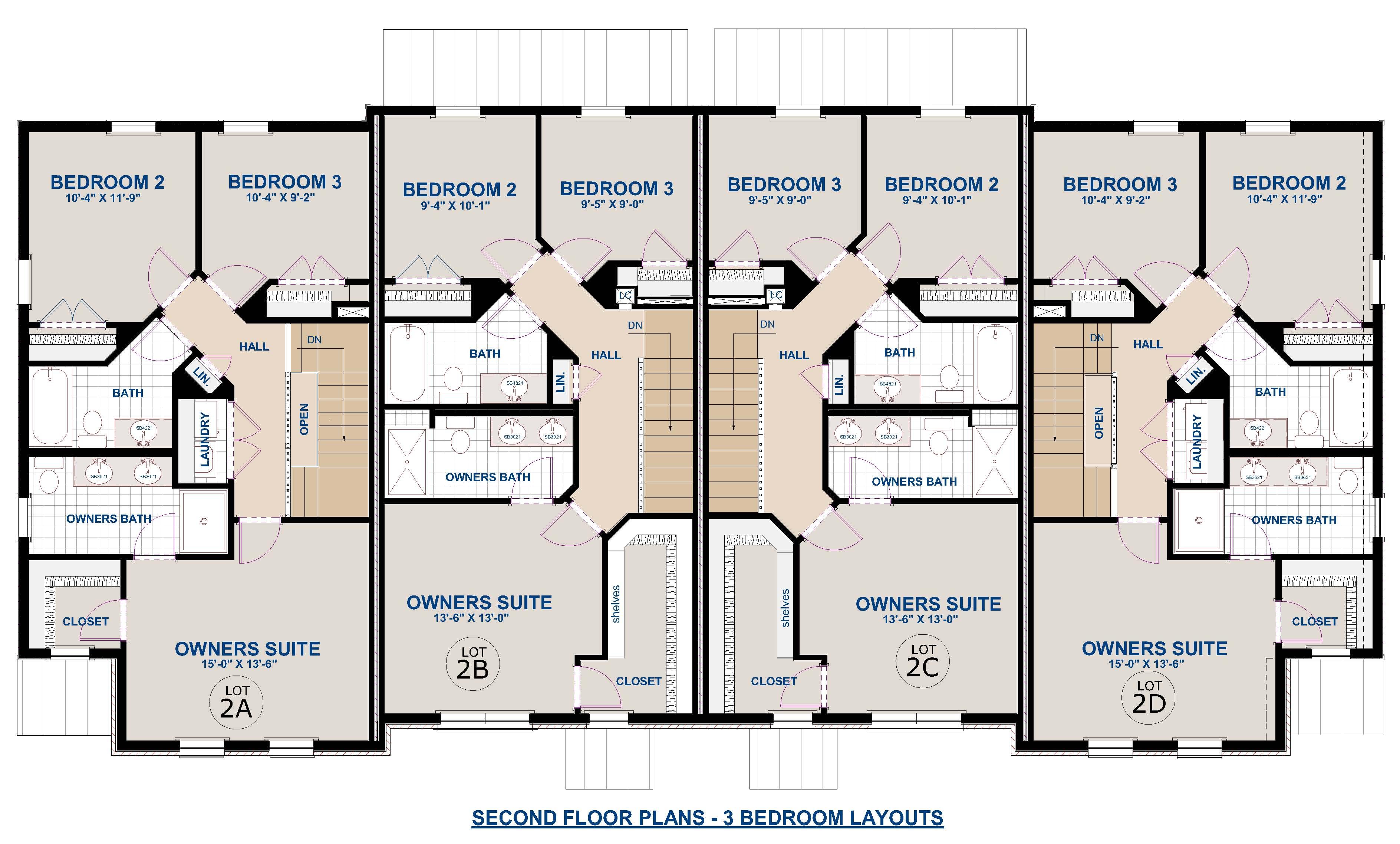 2nd Floor-3 Bedrooms